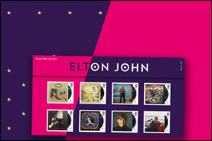 Elton John Special Stamps - Buy now from the Royal Mail shop